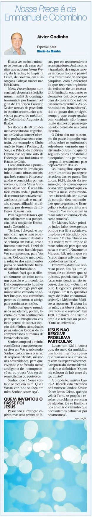 DM 23-04-2014 - Nossa Prece é de Emmanuel e Colombino - Jávier Godinho