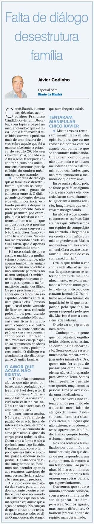 DM 28-05-2014 - Falta de diálogo desestrutura família - Jávier Godinho