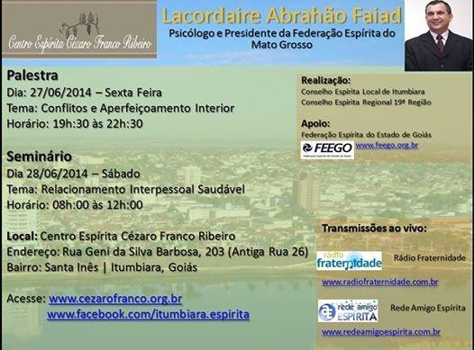 Cartaz Lacordaire Abrahão Faiad