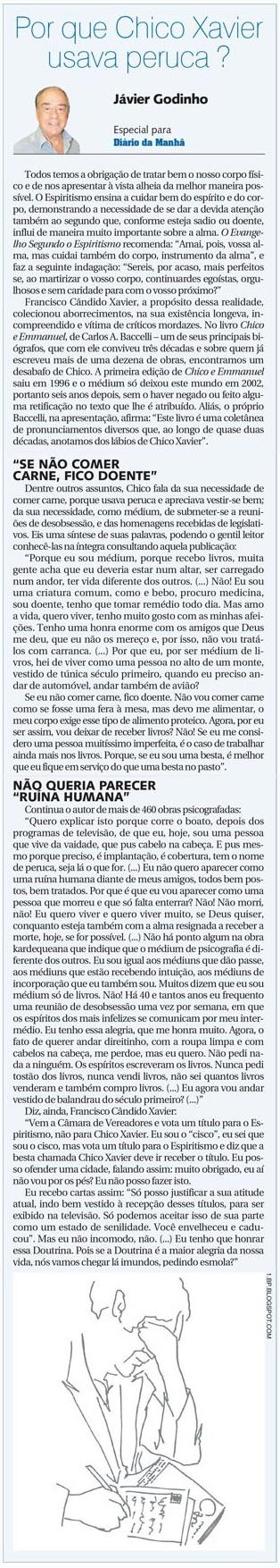 DM 02-07-2014 - Por que Chico usava peruca - Jávier Godinho