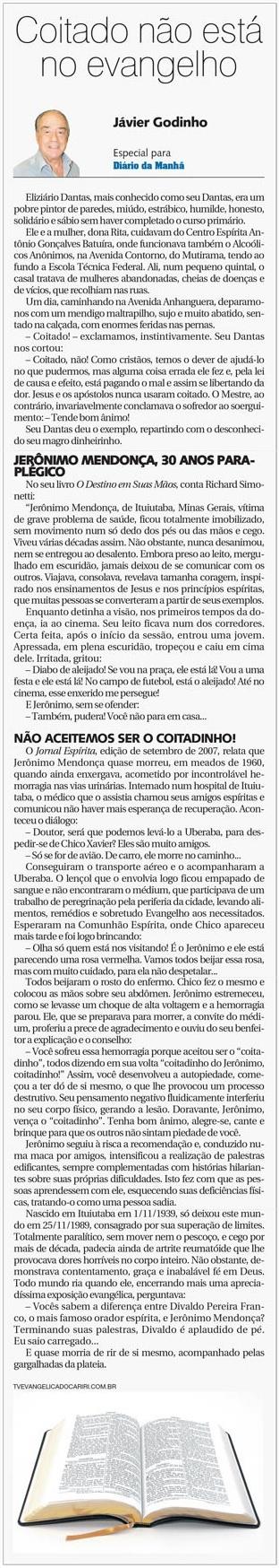 DM 03-09-2014 - Coitado não está no evangelho - Jávier Godinho