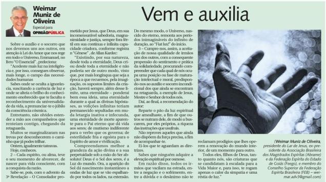 DM 07-09-2014 - Vem e auxilia - Weimar Muniz