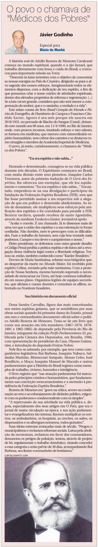 DM 20-08-2014 - O povo o chamava de Médico dos Pobres - Jávier Godinho
