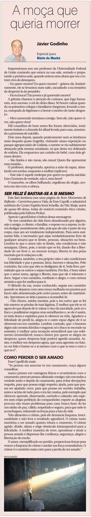 DM 27-08-2014 - A moça que queria morrer - Jávier Godinho