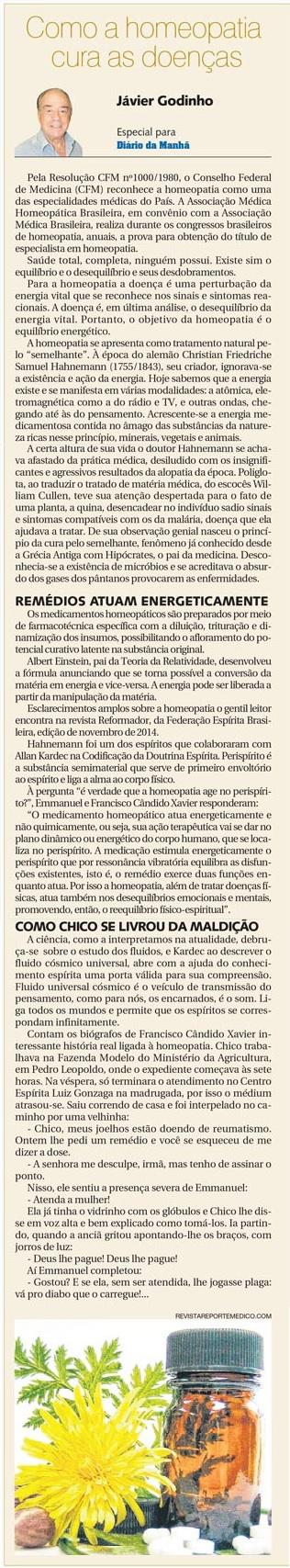 DM 26-11-2014 - Como a homeopatia cura as doenças - Jávier Godinho