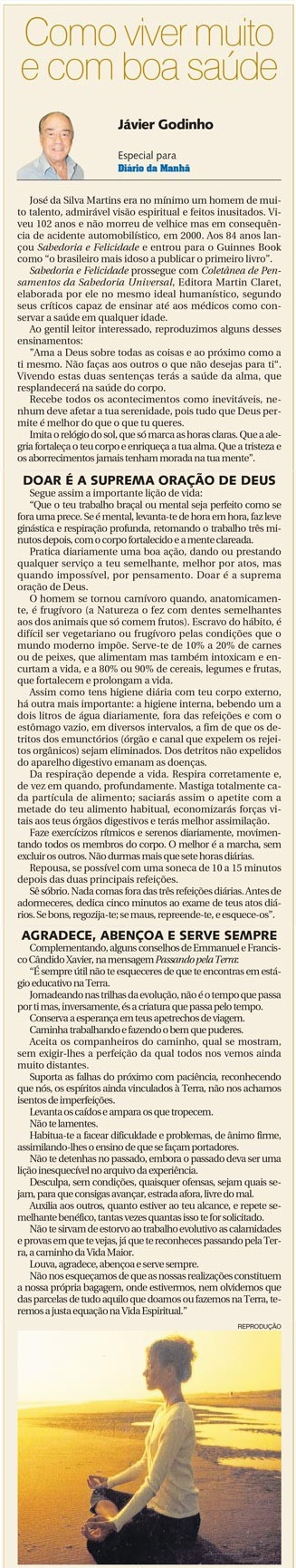 DM 17-12-2014 - Como viver muito e com boa saúde - Jávier Godinho