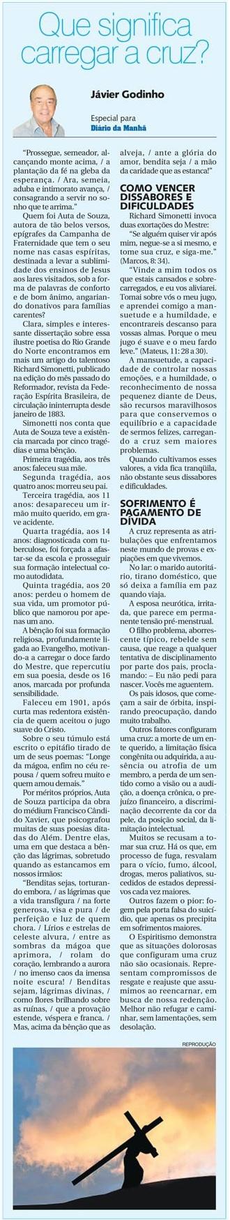 DM 14-01-2015 - Que significa carregar a cruz - Jávier Godinho