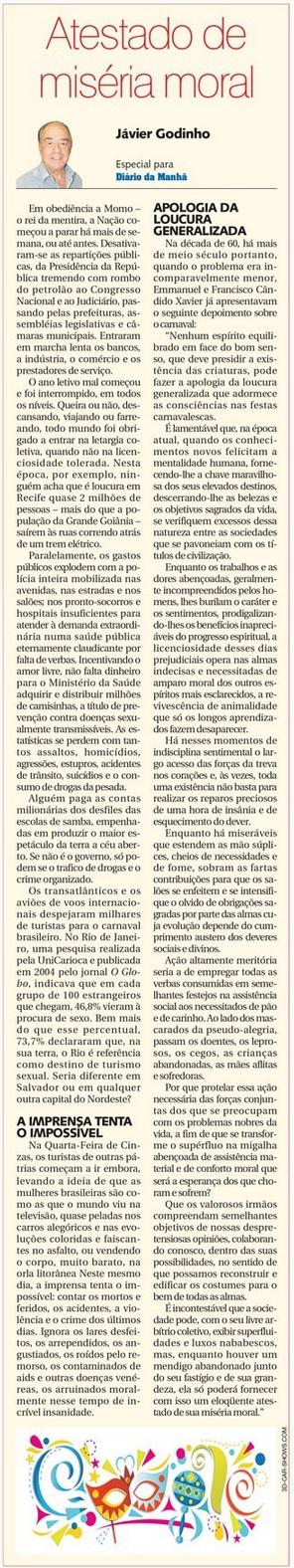 DM 18-02-2015 - Atestado de miséria moral - Jávier Godinho