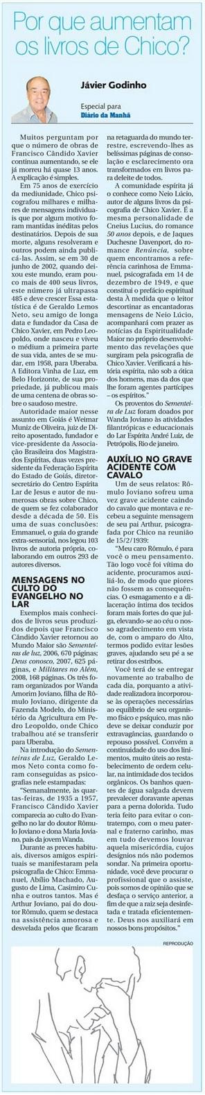 DM 21-01-2015 - Por que aumentam os livros de Chico - Jávier Godinho