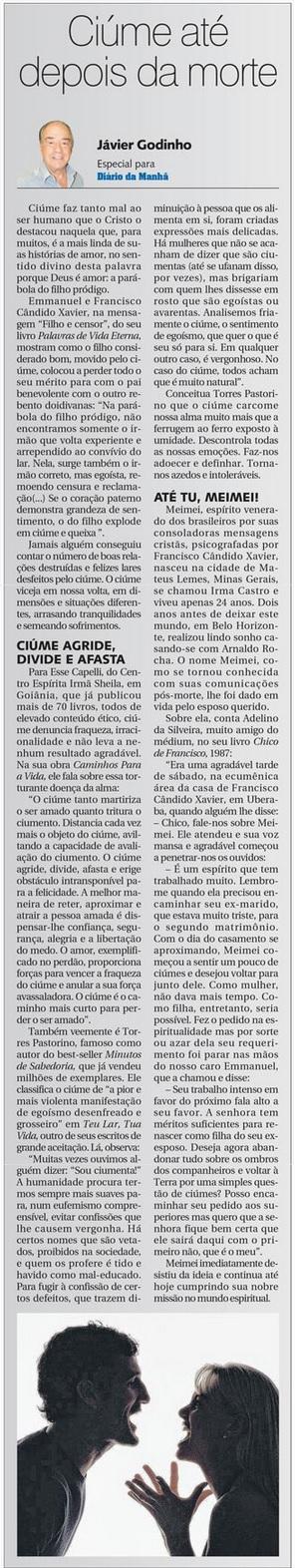 DM 06-05-2015 - Ciúme até depois da morte - Jávier Godinho