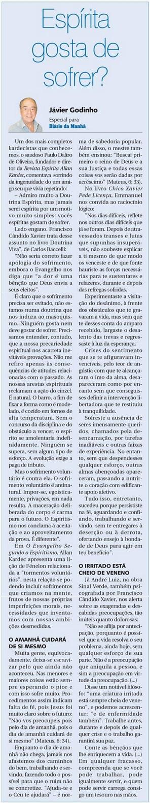 DM 22-04-2015 - Espírita gosta de sofrer - Jávier Godinho