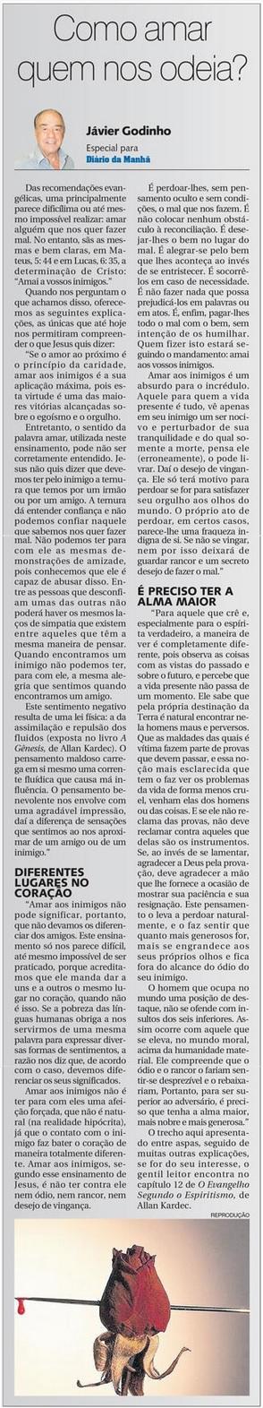 DM 29-04-2015 - Como amar quem nos odeia - Jávier Godinho