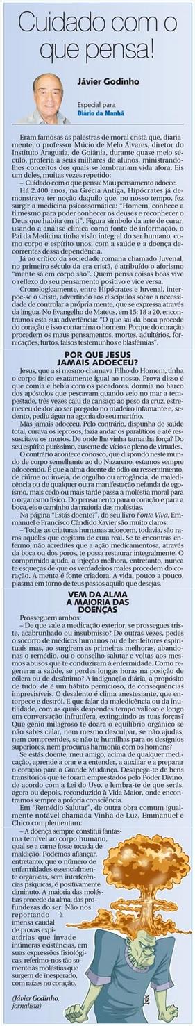 DM 03-06-2015 - Cuidado com o que pensa - Jávier Godinho