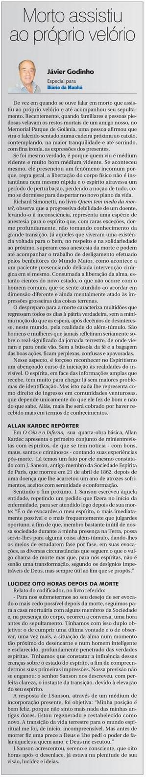 DM 13-05-2015 - Morto assistiu ao próprio velório - Jávier Godinho