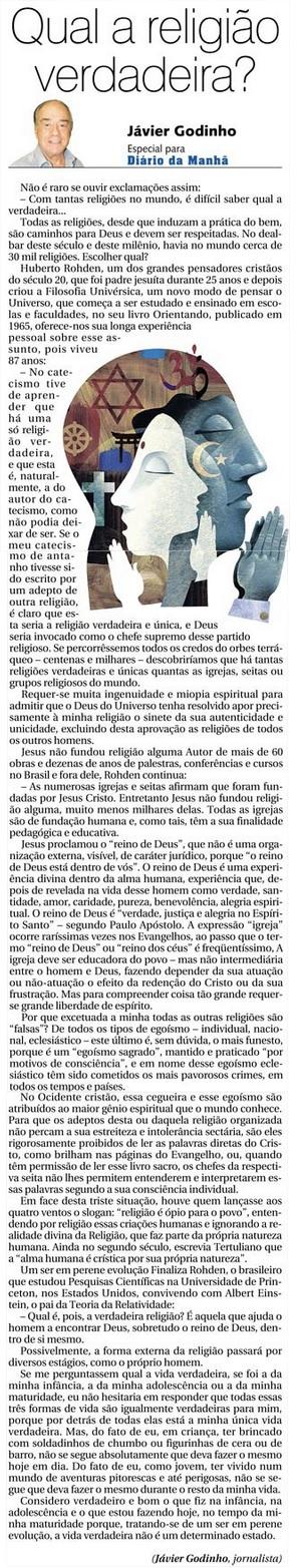DM 17-06-2015 - Qual a religião verdadeira - Jávier Godinho