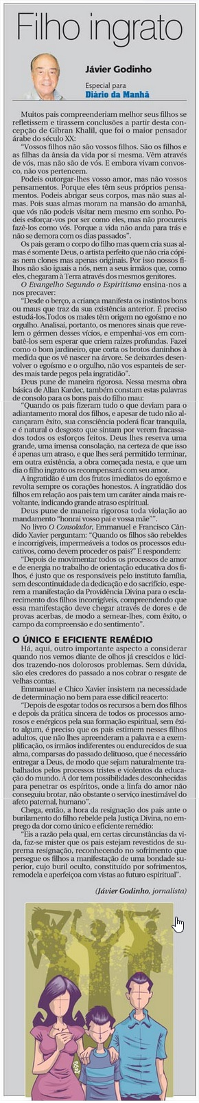 DM 20-05-2015 - Filho ingrato - Jávier Godinho