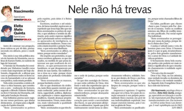 Artigo publicado no Diário da Manhã em 26-06-2016